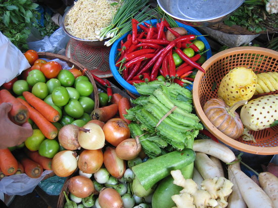 Cambodia Cooking Class: A colourful array of vegetables