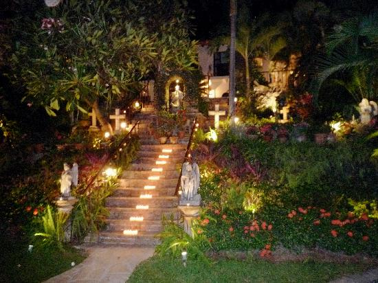 Gardens At Night Picture Of Hacienda San Angel Puerto Vallarta