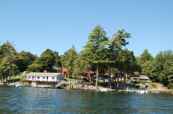Bonnie View on Lake George: A view of the resort from a rowboat.