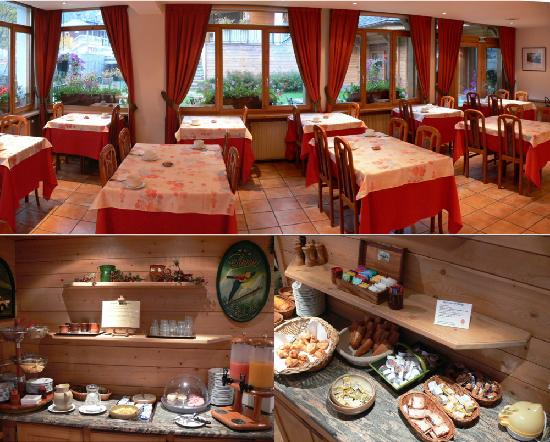 Hotel de l'Arve: Breakfast Buffet and Dining Area