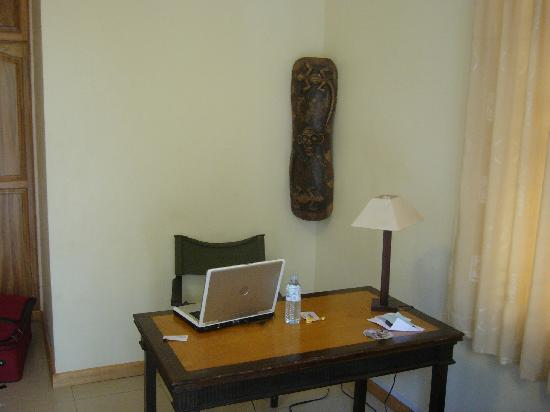 Banda Inns: work area - did I mention the wireless internet??
