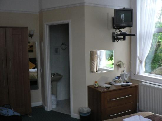 The Elmdene: our room, large and spotless