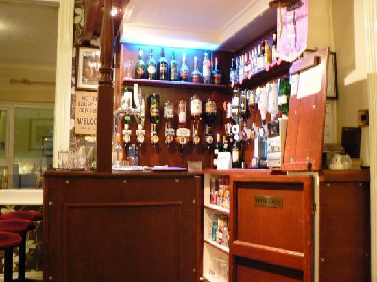 The Elmdene: the bar,