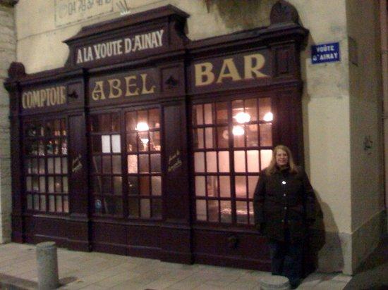 Outside the Cafe Comptoir Abel, November 28, 2008