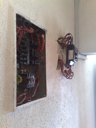 Babcock University Guest House: Exposed Wiring in the escape Corridor
