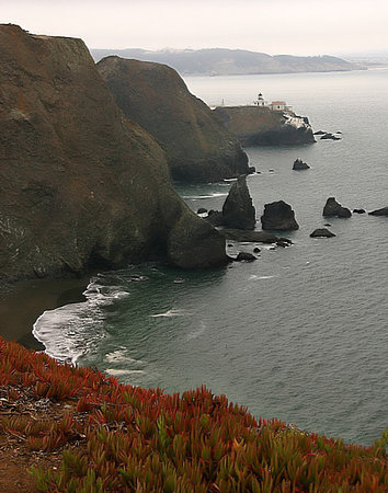 Marin County, Kalifornien: Overlooking Point Bonita Lighthouse