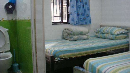 New China Guest House: their Twin beds room
