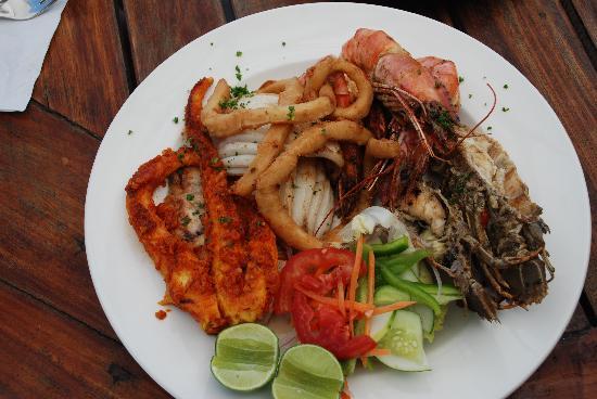 Ras Nungwi Beach Hotel: Seafood Platter