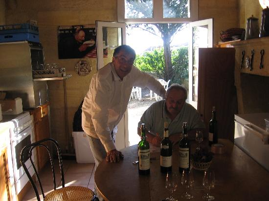 Chateau Monlot: in the kitchen with M. Rival and friend