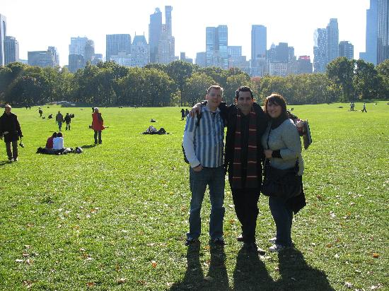 Real New York Tours: we three together at the Central Park