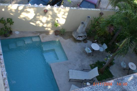 Casa de Amistad: view of pool from the roof top deck