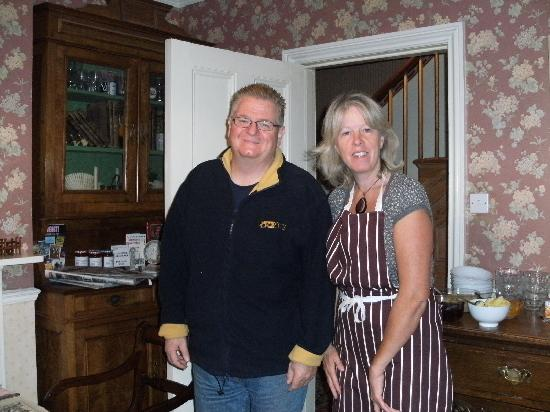 Wyndham Park Lodge: John with our hostess Suzanne
