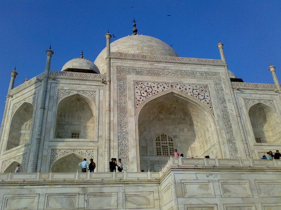 Agra, India: Upper View-Taj Mahal
