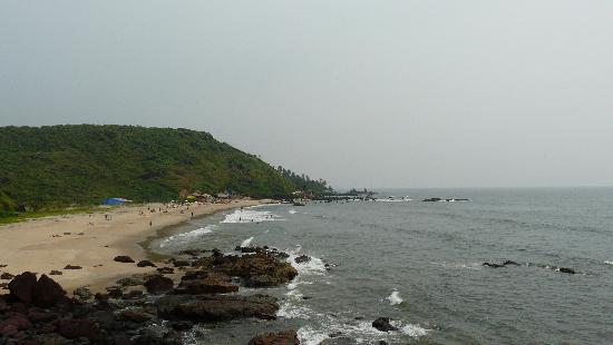 arambol beach from hill
