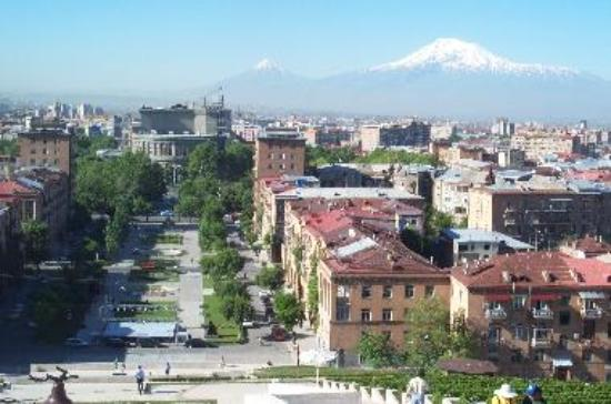 View of Yerevan and Mt. Ararat from Cascades (c) Raffi Kojian (courtesy of)