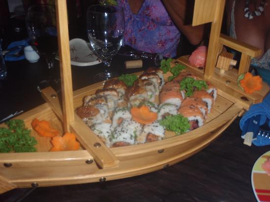 Playa Grande Park Hotel: Sushi Boat Served At Our Stay