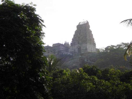 Melkote: the famous Cheluva-Narayana Swamy Temple from distance..