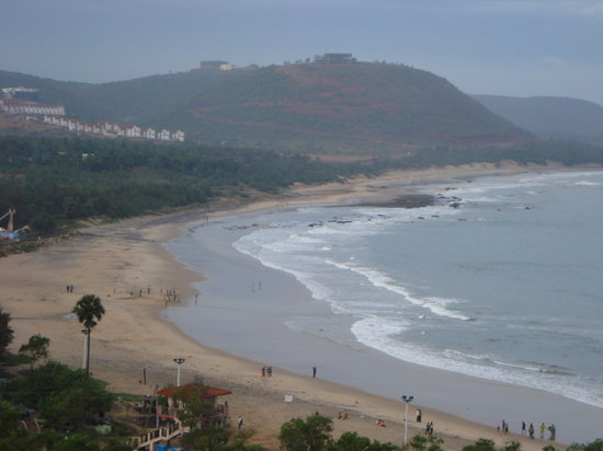 Visakhapatnam, Indien: Rushi Konda with the Hills