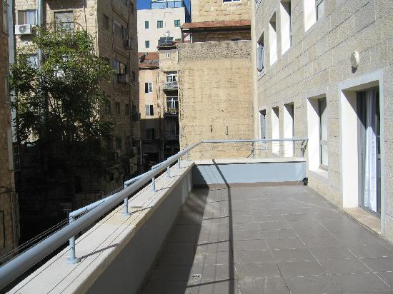 Harmony Hotel Jerusalem - an Atlas Boutique Hotel: Large wrap around balcony