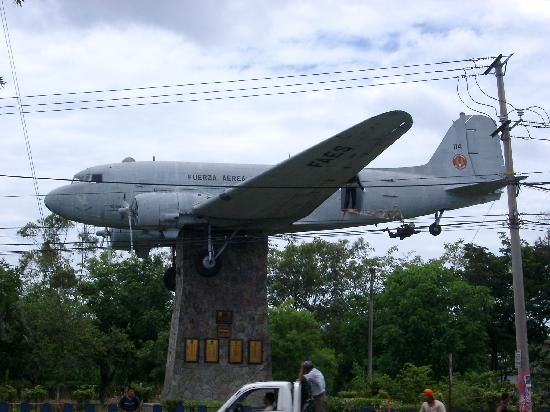 Military Museum El Zapote Barracks: In front of the Air Force Museum