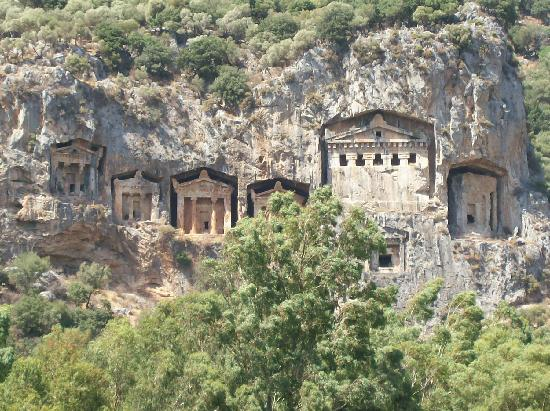 The Lycian Cliff Tombs - Picture of Lycian Rock Tombs ...