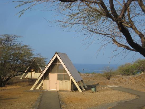 Hapuna Beach: cabin outside