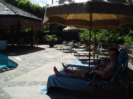 The Pool area at East Winds Inn
