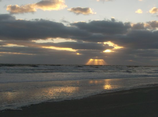 sunrise over jacksonville beach
