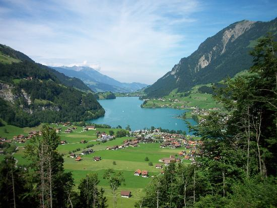 Victoria Jungfrau Grand Hotel & Spa: View of Interlaken, Switzerland from Train