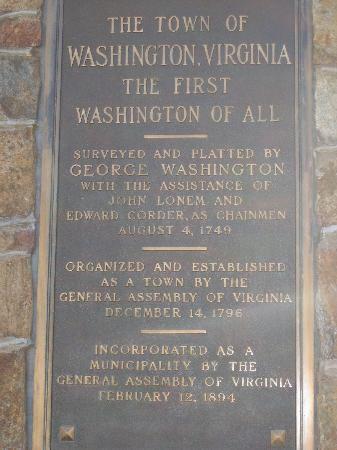 The Inn at Little Washington: Town History