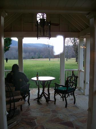 The Inn at Little Washington: Back porch and private yard