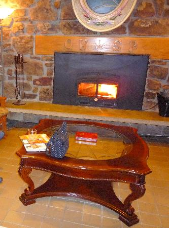 Queen Wilhelmina Lodge: The Fireplace