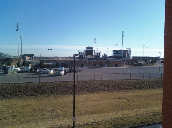 "Residence Inn Midland: view from my window. foot ball field used in the movie ""Friday Night Lights"""