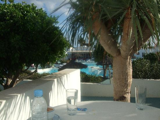 Nautilus Lanzarote: view from our patio table
