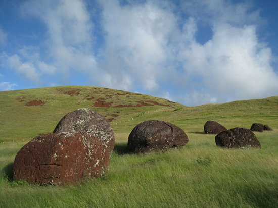 Easter Island, Chile: Top Knots at Puna Pau