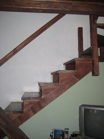 Hotel Casa Wagner: The unsafe stairway up to the loft bedroom
