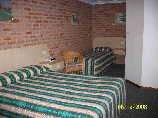 Branxton House Motel : Queen & single beds