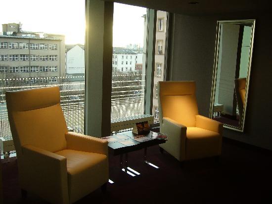 Radisson Blu Hotel Leipzig : couloir quatrième étage
