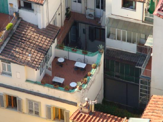 Residenza Giotto: The Giotto B&B patio from atop the Campanile