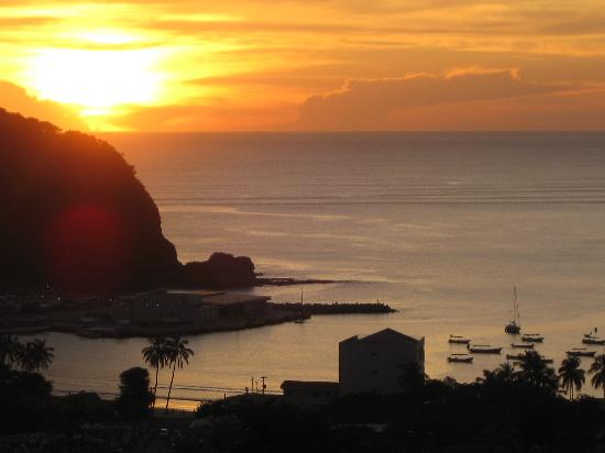 Hotel Casablanca: Sunset from Pelican Eyes San Juan del Sur