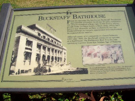 Buckstaff Bathhouse: Plaque out front