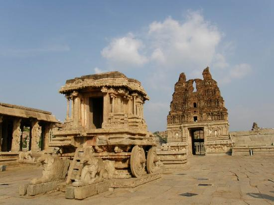 Stone Chariot Picture Of Hampi Bellary District