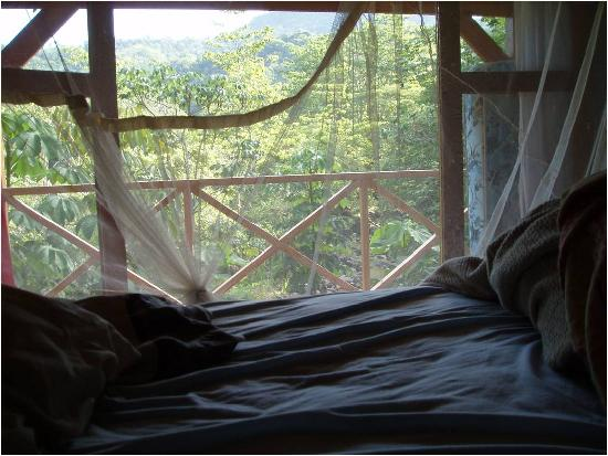 The River House: from the bedroom you can see the entire river bed and jungle landscape
