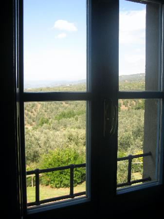 Podere Jana: view from window
