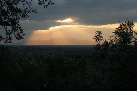 Podere Jana: sunset view