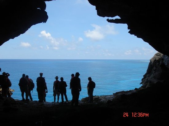 Mayaguez, Puerto Rico: Inside Cave looking out to Ocean