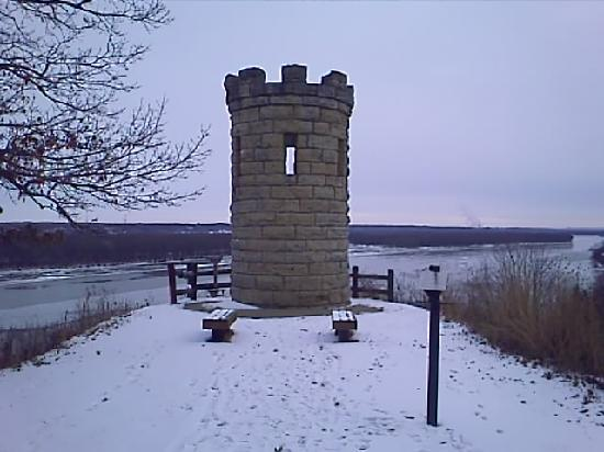 Mines of Spain Recreation Area: Monument to Julien Dubuque