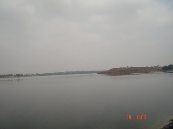 Mandya, อินเดีย: the first view of the lake