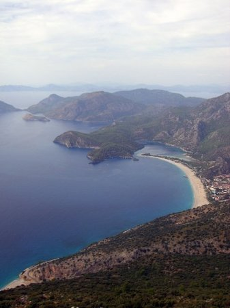 Ölüdeniz, Turquie : Olu Deniz beach view from Paragliding