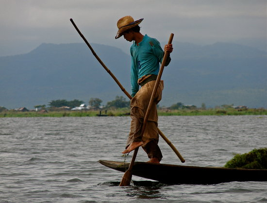 Birmania: Fisherman on Inle Lake